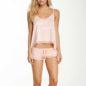 WILDFOX Head in The Clouds Cami Set in Peach Peony